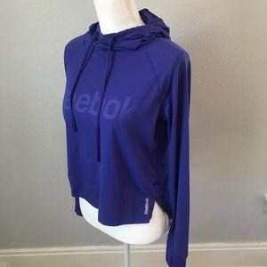 Reebok Purple Hi Low Hooded Pullover